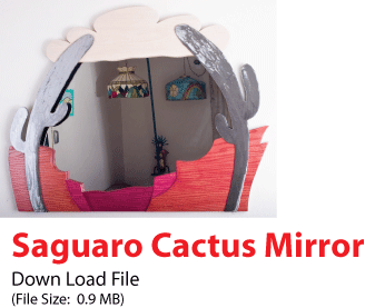 Download file for the Saguaro Cactus Mirror
